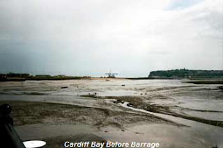 cardiff bay before barrage