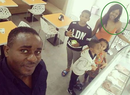 emeka ike south african girlfriend meet his kids abuja