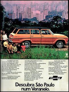propaganda Veraneio - 1973, Chevrolet década de 70, anos 70, GM, Oswaldo Hernandez, carros antigos,