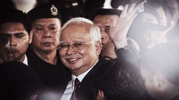 Najib ditahan sebaik sahaja tiba di Ibu Pejabat SPRM. Beliau dijangka berdepan 6 lagi dakwaan