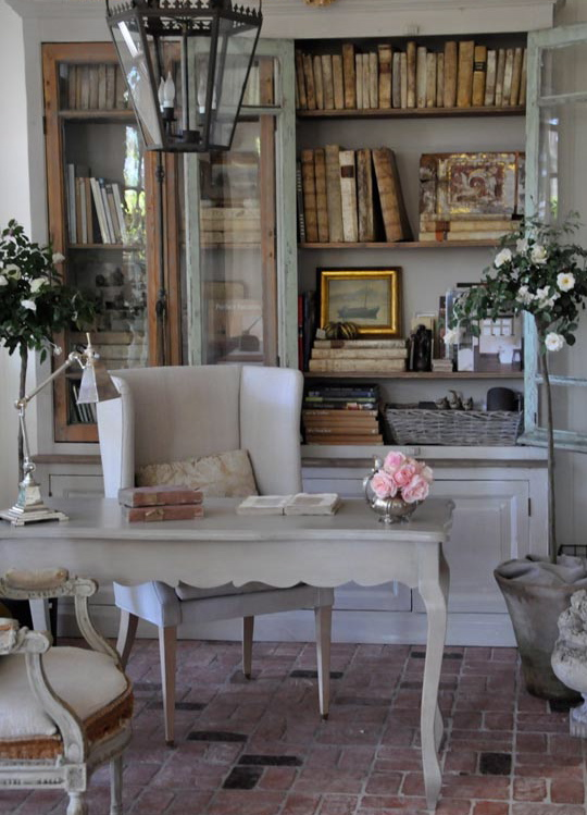 Painted Library Cupboard - FRENCH COUNTRY COTTAGE