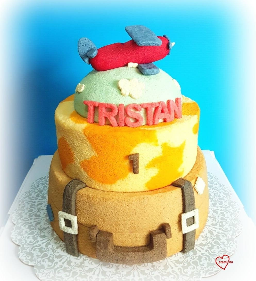 Retro world map travel chiffon cake with vintage chiffon airplane gumiabroncs Images