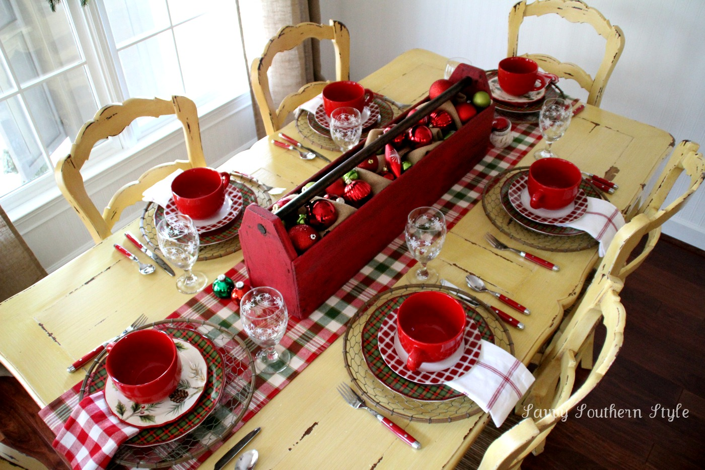 Savvy Southern Style Christmas Breakfast Table