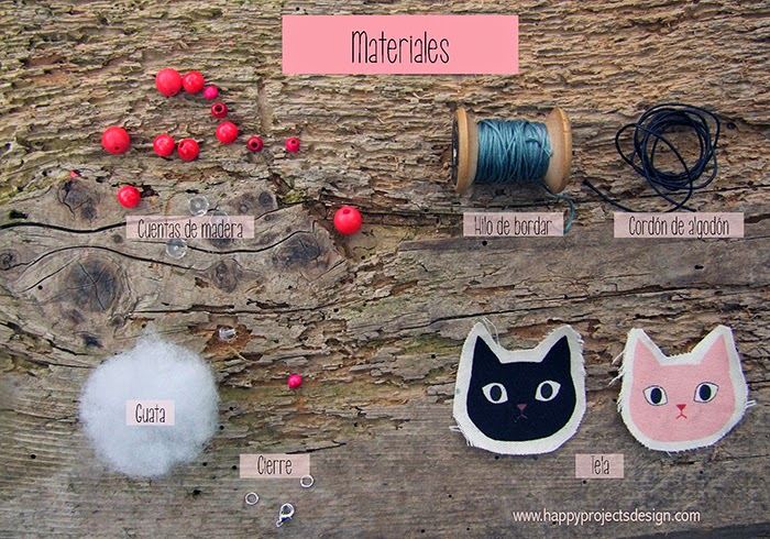 DIY Collar de tela: materiales