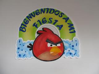 DECORACION DE GLOBOS ANGRY BIRDS