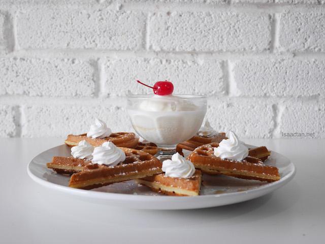 Maple Syrup Fresh Cream Waffle - A La Carte RM10.80 | Classic RM15.80 | Premier RM22.80