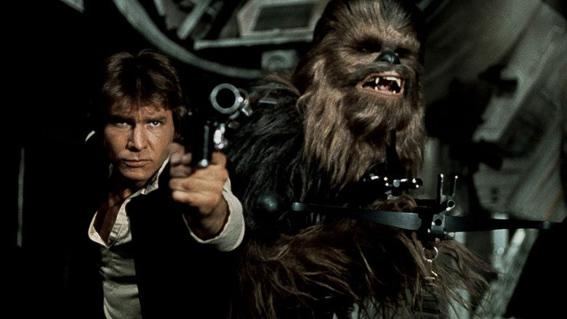 Han Solo y Chewaka. La guerra de las galaxias