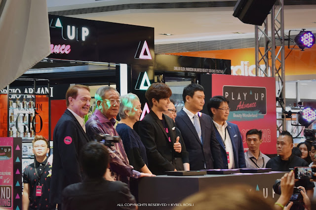 Yoo Seung Ho First Time in Malaysia for Play-Up Advance Beauty Wonderland Grand Opening