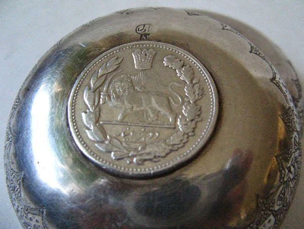 Antique Persian Sterling Silver Coin Bowls