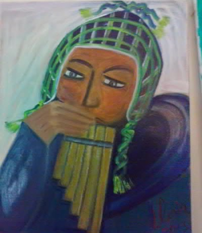"""Peruvian "" ethnic series oil painting by Gloria Poole"