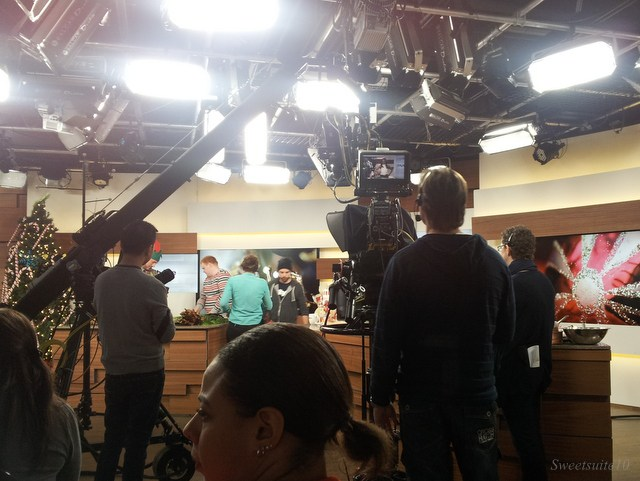 what a live audience sees at a tv show taping - not much!