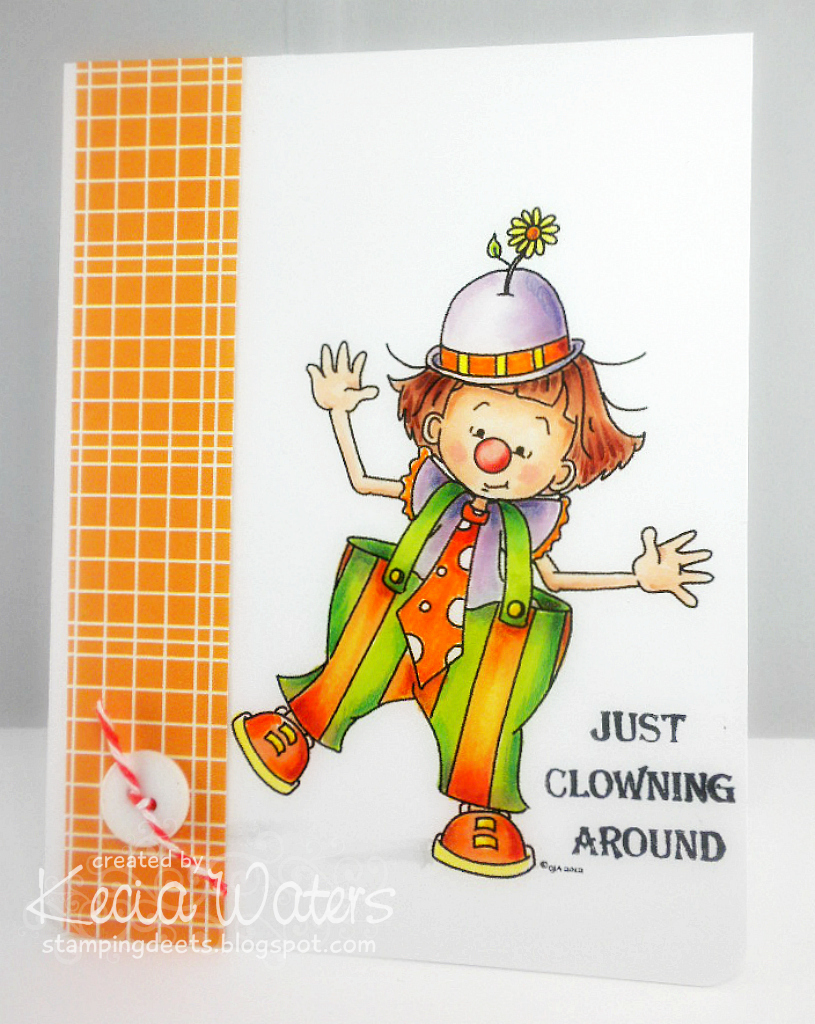 Sassy Cheryl's, Kecia Waters, Copic markers, clown