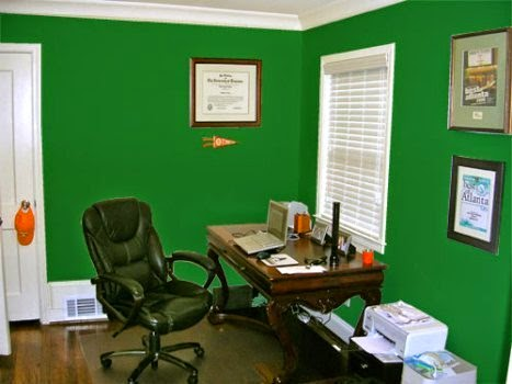 best wall paint color home office