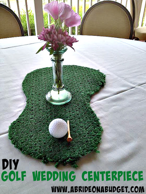 Do you love to golf? Or are you getting married at a golf course? These DIY golf wedding centerpieces from www.abrideonabudget.com are perfect.