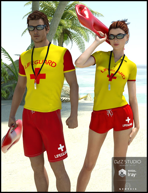 Lifeguard Uniform for Genesis 3 Male