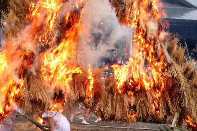 Takewari Matsuri (Bamboo Cutting Festival), at Sugo-Ishibe Jinja, Kaga, Ishikawa
