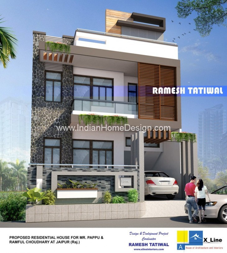 North Indian Style Contemporary Home Design