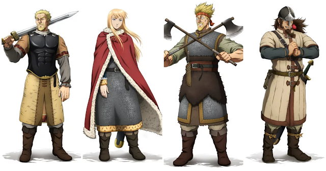 Askeladd, Canate, Thorkwell, Bjorn Character Designs