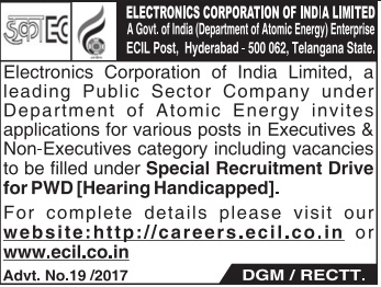 ECIL Recruitment 2017 ecil.co.in Application Form
