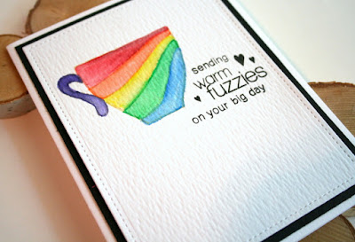 No Line Rainbow Watercoloring with Inktense Pencils and Create a Smile Stamps by Jess Gerstner
