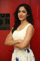Actress Ritu Varma Stills in White Floral Short Dress at Kesava Movie Success Meet .COM 0057.JPG