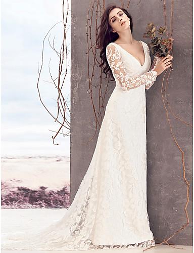 vestidos de novia con manga y cuello