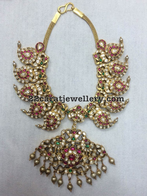 Kundan Peacock Mango Necklace