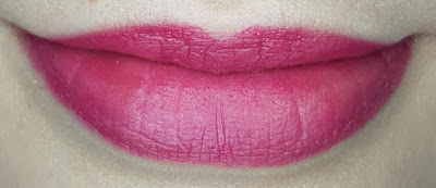 Avon True Colour Delicate Matte Lipstick lip swatch in Plum Illusion