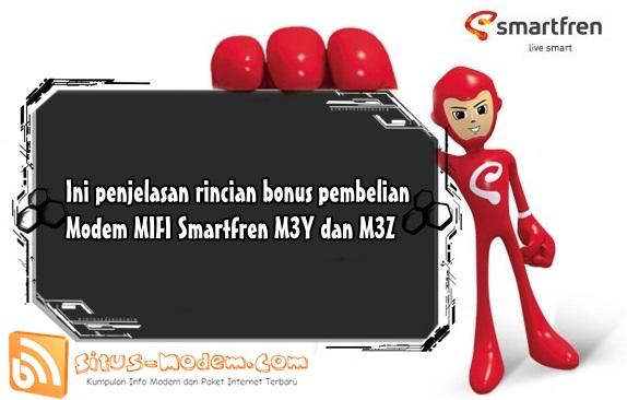Inilah Rincian Bonus Kuota Pembelian MIFI Smartfren M3Y dan M3Z