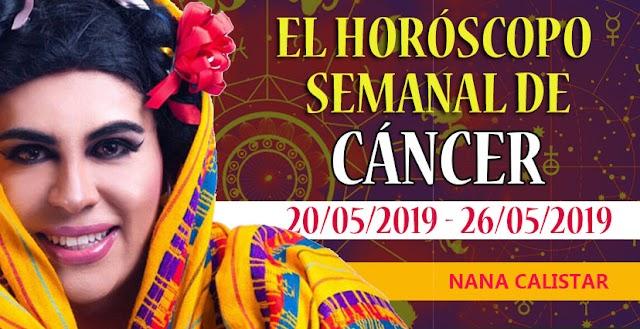Horóscopo semanal de Cáncer,  del 20 al 26 de Mayo del 2019