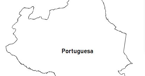 La cartografía: Mapa del Estado Portuguesa (Venezuela) para colorear
