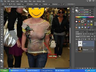 cara membuat baju foto menjadi tembus pandang