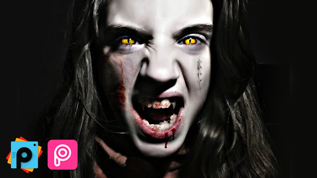 Makeup para halloween: Vampiro Con PicsArt 4