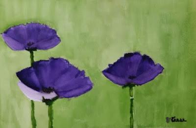 Purple Poppies - Watercolor - JKeese