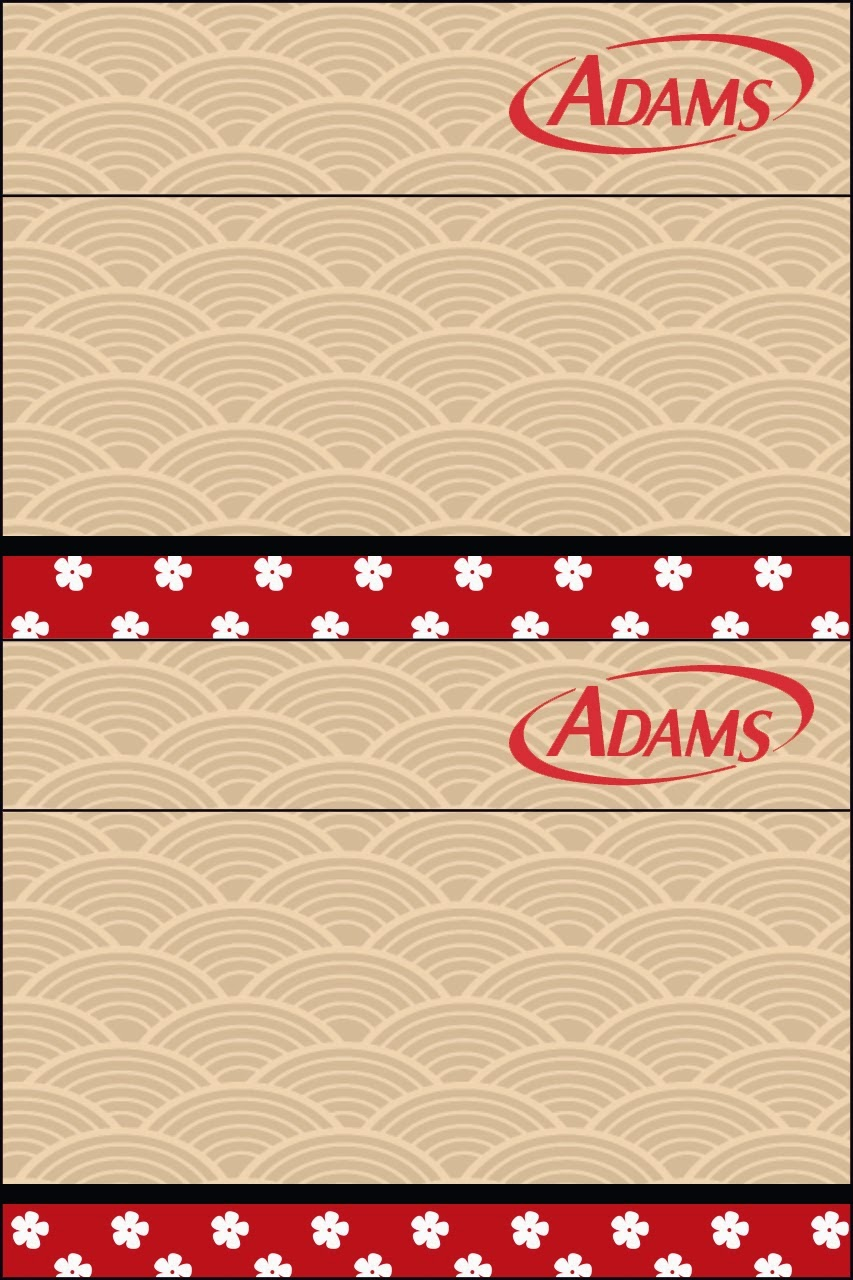 Etiqueta Golosinas Adams para Imprimir Gratis de Fiesta Estilo Japonés.