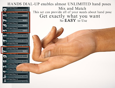 Hands Dial-up for Genesis 3 Male and Female