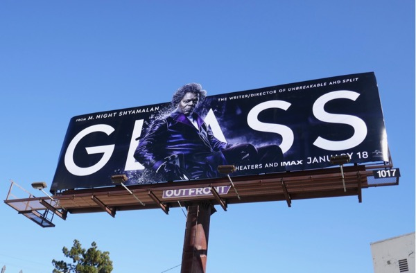 Samuel L Jackson Glass movie billboard