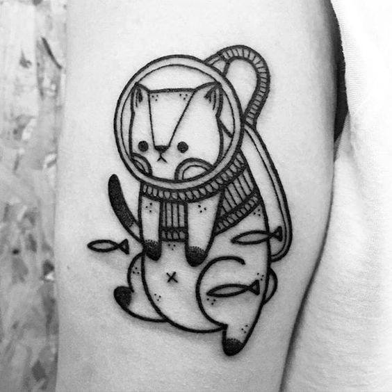 75+ Best Cat Tattoos For Guys (2019) Small Simple Ideas