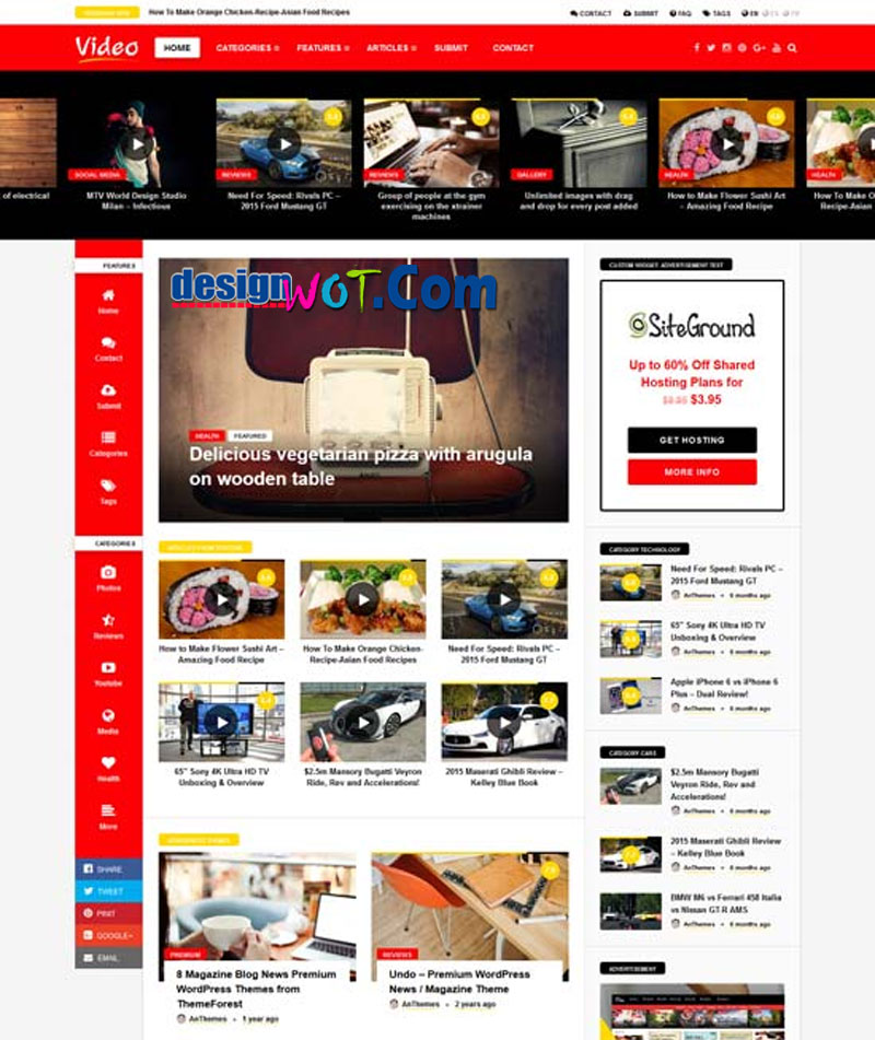 VIDEONEWS Video Movie WordPress Theme