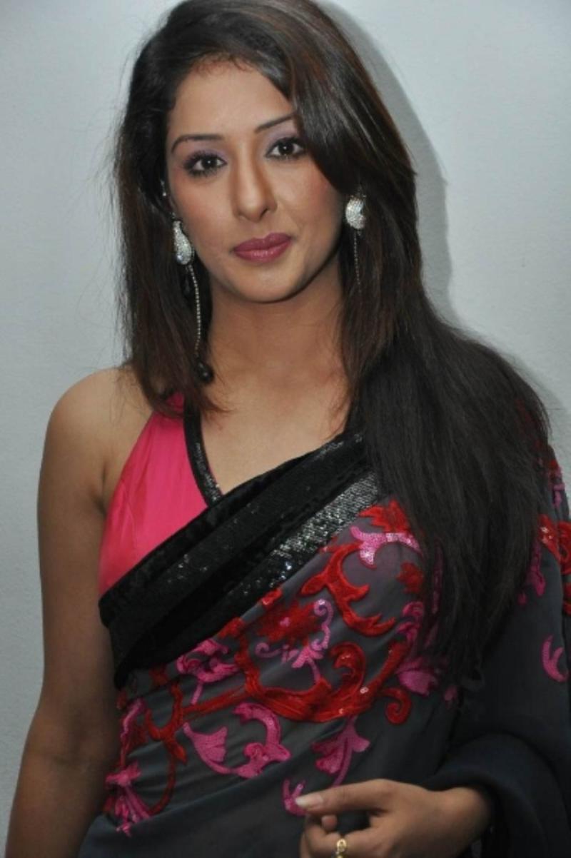 Actress Samiksha New Phots In Black Saree - Actress Shots-9499