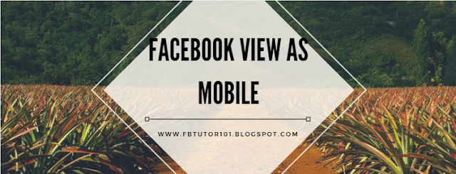 Facebook View As Mobile