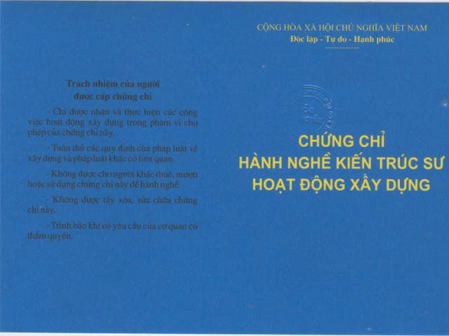 Chung chi hanh nghe kien truc su