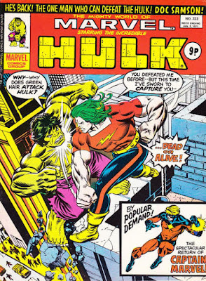 Mighty World of Marvel #223, Hulk vs Doc Samson
