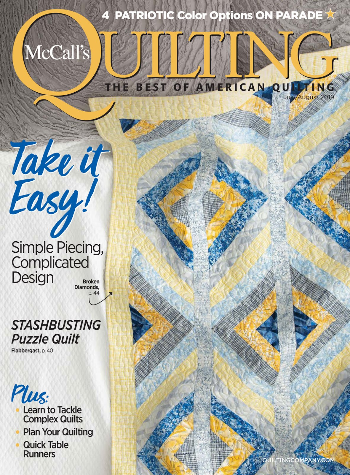ONLY $4.99 ! August 2019 McCall's Quilting (click!)