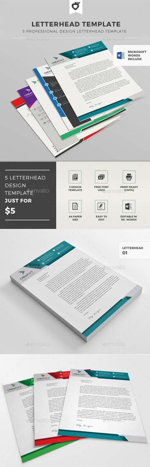 7 Letterhead Templates In 1  Letterhead Template Word Free