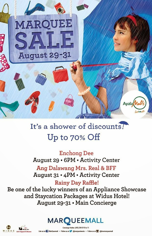 Manila Shopper Marquee Mall 3 Day Sale Aug 2014