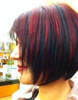 Gaya rambut pendek sebahu 3 warna