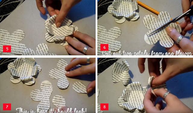 Cara Membuat Bunga dari Kertas Koran
