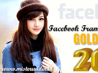 Facebook Frame Happy New Year 2018 Gold Edition