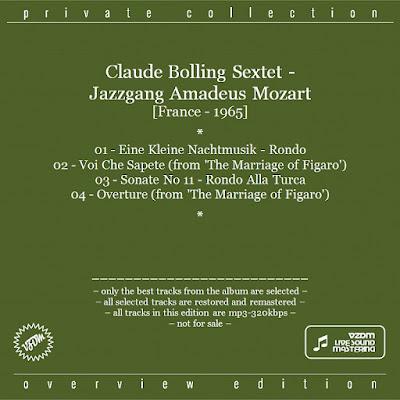 Claude Bolling Sextet - Jazzgang Amadeus Mozart (1965)